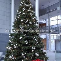 premium weihnachtsbaum h.600cm mit led,kugeln silber 2